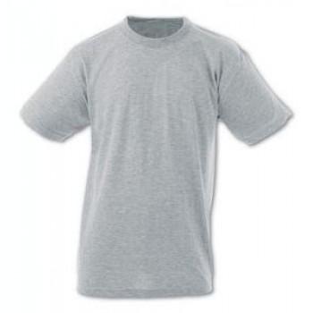 0 Yaka Kısa Kollu Gri T-Shirt