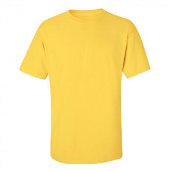 0 Yaka Kısa Kollu Sarı T-Shirt