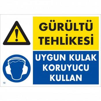 Gürültü Tehlikesi Uygun Kulak Koruyucu Kullan